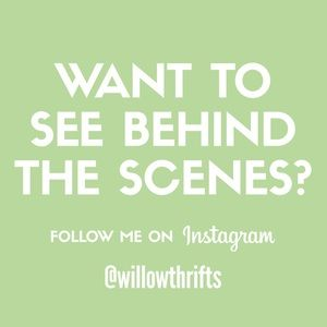 Follow me on Instagram! 💚🖤 @willowthrifts